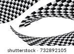 checkered flag. racing flag... | Shutterstock .eps vector #732892105