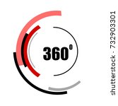360 degrees icons isolated on... | Shutterstock .eps vector #732903301