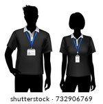 black silhouettes of staff... | Shutterstock .eps vector #732906769