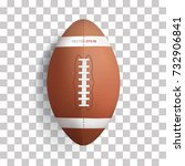 american football ball on... | Shutterstock .eps vector #732906841
