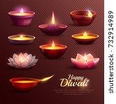 Diwali Celebration Icons Set...