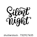 silent night phrase. christmas...