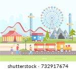 weekend   modern flat design... | Shutterstock .eps vector #732917674