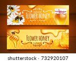 realistic horizontal banners... | Shutterstock .eps vector #732920107