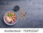 healthy breakfast with... | Shutterstock . vector #732922267