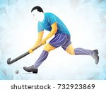 sport hockey grass vector ... | Shutterstock .eps vector #732923869