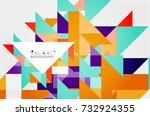 triangle pattern design... | Shutterstock .eps vector #732924355