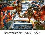 automobile production arm...   Shutterstock . vector #732927274