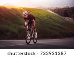 cyclist in maximum effort in a... | Shutterstock . vector #732931387