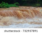 flash flood fast water come... | Shutterstock . vector #732937891