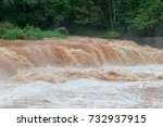 flash flood fast water come... | Shutterstock . vector #732937915