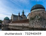 vadstena castle and reflection... | Shutterstock . vector #732940459