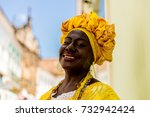 brazilian woman of african... | Shutterstock . vector #732942424