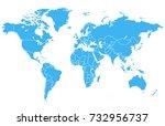 world map | Shutterstock .eps vector #732956737