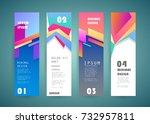 vector vertical banner design | Shutterstock .eps vector #732957811