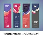 vector vertical banner design | Shutterstock .eps vector #732958924