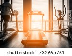 fitness hall with people... | Shutterstock . vector #732965761