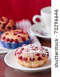 Muffins with cranberries. - stock photo