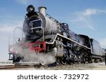 Full View Of Steam Train At...