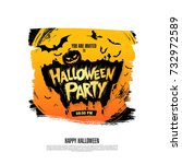 halloween party. vector... | Shutterstock .eps vector #732972589