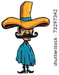 cartoon mexican wearing a huge...