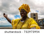 brazilian woman of african... | Shutterstock . vector #732973954
