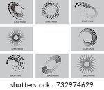 vector set of logo design | Shutterstock .eps vector #732974629