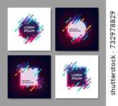 set of trendy abstract... | Shutterstock .eps vector #732978829