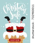 christmas sale. hand drawn... | Shutterstock .eps vector #732983011