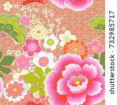 japanese pattern. cherry... | Shutterstock .eps vector #732985717