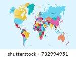 world map | Shutterstock .eps vector #732994951