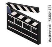 isometric clapperboard | Shutterstock .eps vector #733004875
