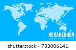 vector flat world map with... | Shutterstock .eps vector #733006141