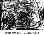 black and white liquid texture. ... | Shutterstock .eps vector #733007815