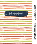 notebook cover template. vector ... | Shutterstock .eps vector #733008505