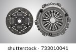 clutch plate with pressure plate | Shutterstock . vector #733010041