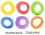 abstract watercolor hand...   Shutterstock . vector #73301905