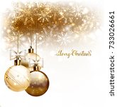 elegant christmas background... | Shutterstock .eps vector #733026661