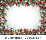 Decorative Christmas Frame Wit...