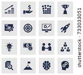 set of 16 idea icons set... | Shutterstock .eps vector #733033051