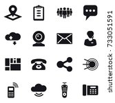 16 vector icon set   pointer ... | Shutterstock .eps vector #733051591