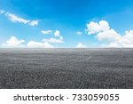 asphalt road circuit and sky... | Shutterstock . vector #733059055