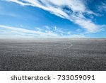 asphalt road circuit and sky... | Shutterstock . vector #733059091