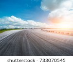 asphalt road circuit and sky... | Shutterstock . vector #733070545