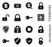 16 vector icon set   dollar ... | Shutterstock .eps vector #733083481