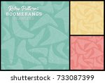 retro boomerang seamless... | Shutterstock .eps vector #733087399