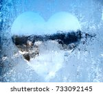 Heart Form Snowflakes Ice...