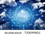 2d rendering cloud computing | Shutterstock . vector #733099831
