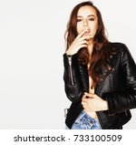 young pretty sexy woman in... | Shutterstock . vector #733100509