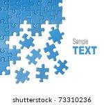 Blue Puzzle Pieces Design...
